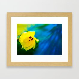 Sunny Hibiscus Framed Art Print