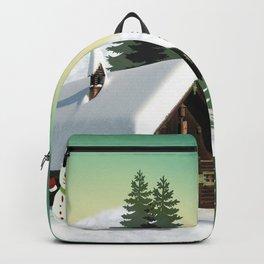 Christmas Snowman Scene Backpack
