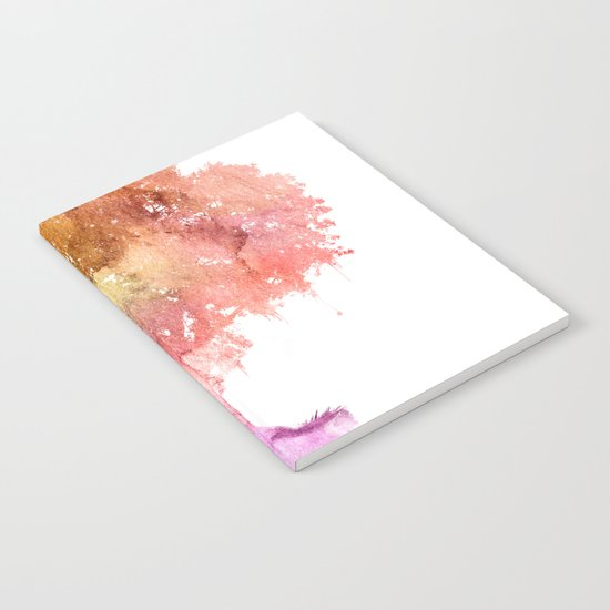 Watercolor tree painting Notebook