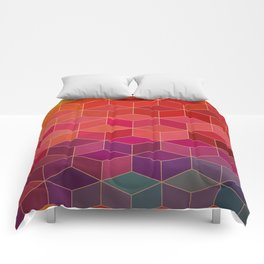 geometric pattern with geometric shapes, rhombus Comforters