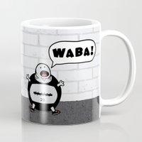 crossfit Mugs featuring WABA! by khalan