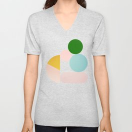 Abstraction_Minimal_Shapes_001 Unisex V-Neck
