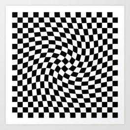 Check VIII - Black Twist Art Print