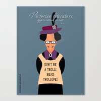 literature Canvas Prints featuring Victorian Literature - Trollope by Natallia Pavaliayeva