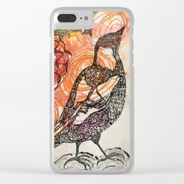Magpie Clear iPhone Case
