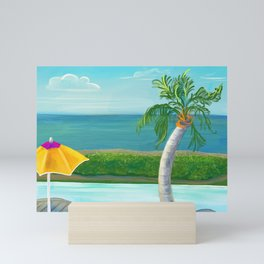 Pool relaxation in Nevis Mini Art Print