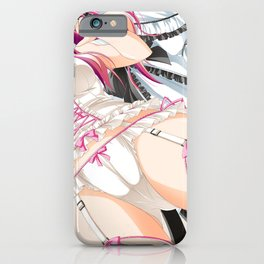 Pink Haired Hentai Girl In Lingerie Ultra HD iPhone Case