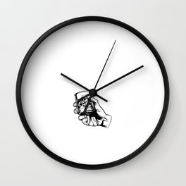 Humorous I'm Having A Bourbon Drinking Gag Tee Shirt Gift | Hilarious Whiskey Enthusiasts Men Women Wall Clock