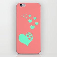 Love Coral Mint iPhone & iPod Skin