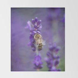 Lavender Bee Throw Blanket