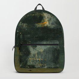 James Abbott McNeill Whistler - Nocturne in Black and Gold Backpack