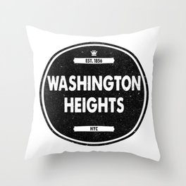 Washington Heights Throw Pillow