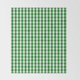 Christmas Green Gingham Check Throw Blanket