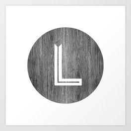 Letter L Art Print