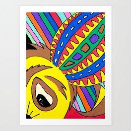 Psychedelic ferret ear Art Print