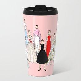 Audrey Hepburn Think Pink Outfits Fashion Travel Mug