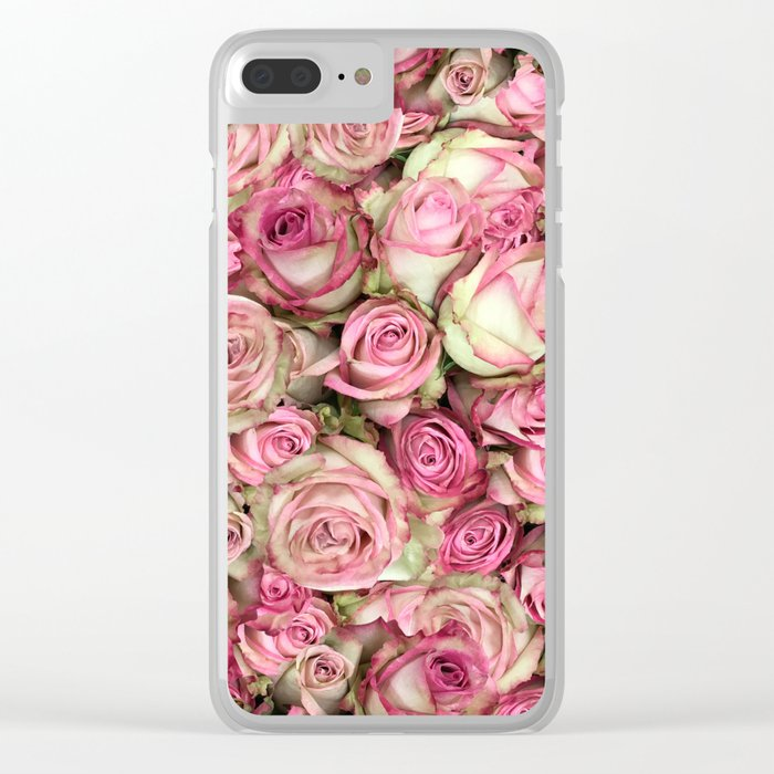 Your Pink Roses Clear iPhone Case