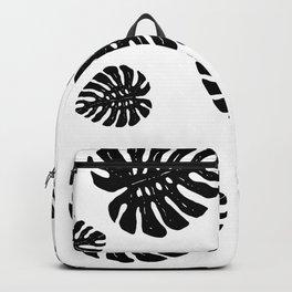 Monstera pattern Backpack