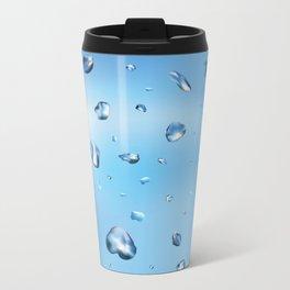 Water drops Metal Travel Mug