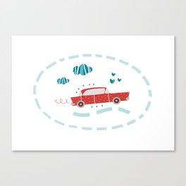 A ride Canvas Print