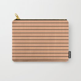 Thin Black Lines On Peach Carry-All Pouch