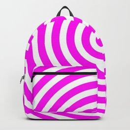 Circles (Magenta & White Pattern) Backpack