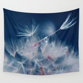 Snow Dandelion Wall Tapestry