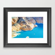 Soaring Over Turquoise and Sandstone XII Framed Art Print