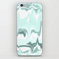 Marbled in mint iPhone & iPod Skin