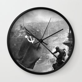 Raising a Flag over the Reichstag Wall Clock