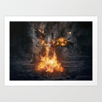 Pyre of Gods Art Print