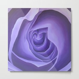 Crown Chakra Rose Metal Print