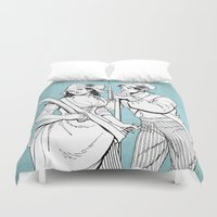 pirates Duvet Covers featuring Pirates by Tom Tierney Studios