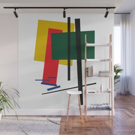 Geometric Abstract Malevic #6 Wall Mural