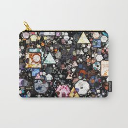 Colorful Layers of Geometric Shapes Carry-All Pouch