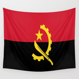 Flag Of Angola Wall Tapestry