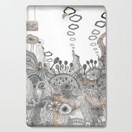 """Brown"" illustration Cutting Board"