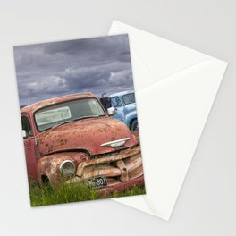 Vintage Auto Bodies in a Junk Yard Stationery Cards