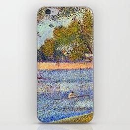 Georges Seurat The Seine and la Grande Jatte - Springtime iPhone Skin