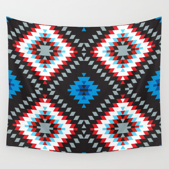 Colorful patchwork mosaic oriental kilim rug with traditional folk geometric ornament. Tribal style by ekaterinap