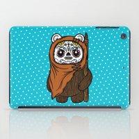 ewok iPad Cases featuring Sugar Skull Ewok by Team Rapscallion