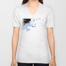 Abstract Smudges and Bubbles Unisex V-Neck