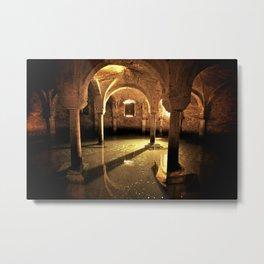 Underwater Crypt Metal Print