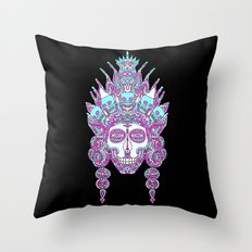 Eternal Death and her family in the mirror of creation II Throw Pillow