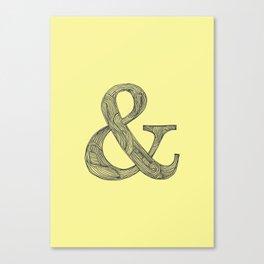 Yellow Ampersand Canvas Print