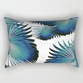 Fan Palm Leaves Paradise #1 #tropical #decor #art #society6 Rectangular Pillow
