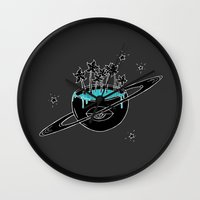 saturn Wall Clocks featuring Saturn by shoooes