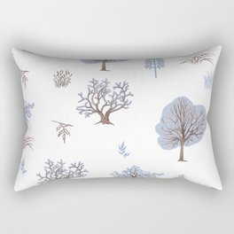 Trees Bushes Branches and Leaves Rectangular Pillow