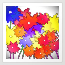 Cheery Abstract bouquet Art Print