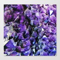 geode Canvas Prints featuring Amethyst Geode by The Wellington Boot